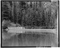 FRONTAL VIEW- UPSTREAM FACE OF DAM-1980 - Aspaas Dam, Tacoma, La Plata County, CO HAER COLO,33-TAC.V,2-11.tif