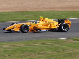 Fábio Carbone - Carbone driving for Ultimate Signature at the Silverstone round of the 2008 Formula Renault 3.5 Series season.