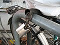 Fahrrad-Abstell-Anlage am Nordausgang, Ein besseres Schloß läßt sich mit Bolzenschneider nur beschädigen, aber nicht knacken, 17.11.2012. - panoramio.jpg