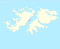 Location of the Swan Islands within the Falkland Islands