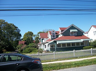 "Sayville, New York - The elaborate home of the late ""Father Divine"" on Macon Avenue in Sayville"