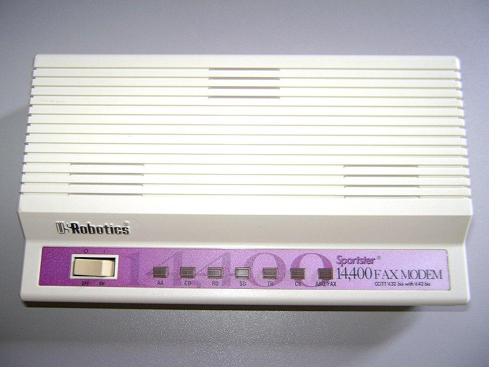 Fax modem antigo