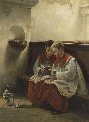 Felix Freiherr von Ende Ministranten beim Gebet.jpg
