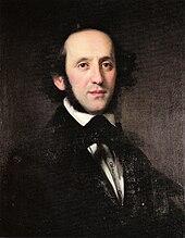 peinture: portrait de Mendelssohn