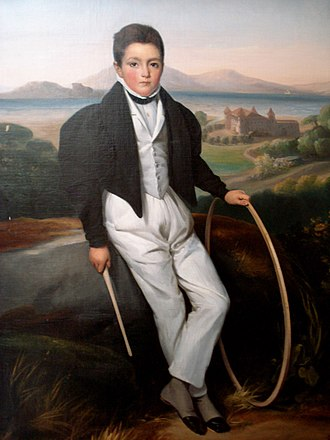Prince Ferdinando, Duke of Genoa (1822–1855) - Portrait of Ferdinand of Savoy, by Valbrun Alexis Leon Louis, Paris, 1833. Private collection