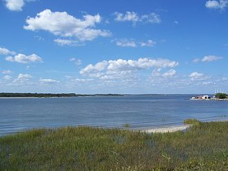 Fort San Carlos - Amelia River, viewed from Old Town site