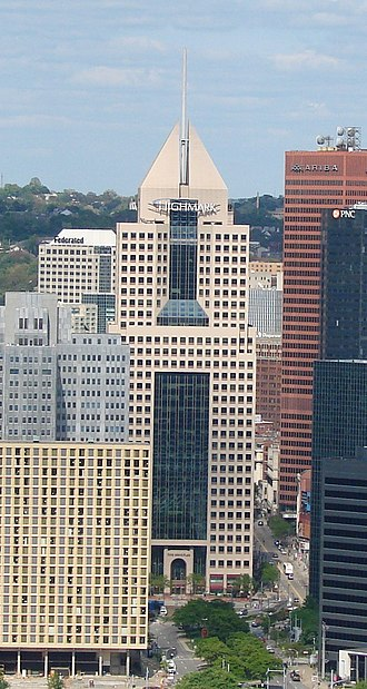 Fifth Avenue Place (Pittsburgh) - View of Fifth Avenue Place from Mount Washington