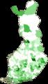 Finnish municipal elections, 2008, Green League.png
