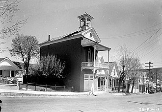 Nevada City Firehouse No. 2 - The firehouse as it appeared in 1936.