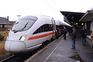 Neumünster–Flensburg railway - First InterCityExpress to serve Flensburg on 9 December 2007