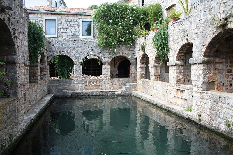 Fishpond in Tvrdalj, the Hvar palazzo of Bartučević's friend Petar Hektorović