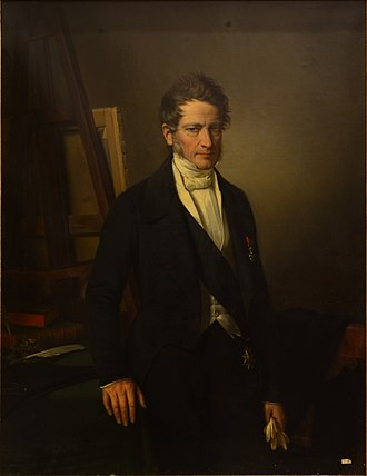 Fleury François Richard - Portrait of Fleury François Richard by Jean-Marie Jacomin in 1852