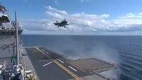 Archivo: Flickr - Imágenes oficiales de la Marina de los EE. UU. - Un F-35B Lightning II realiza el primer aterrizaje vertical en el mar.ogv