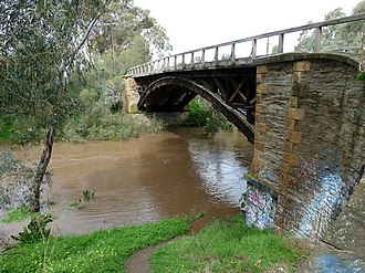Gawler River (South Australia) - Image: Flooded Gawler River at Angle Vale 2010