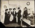 Flora Drummond, Emmeline and Christabel Pankhurst, 1908. (22772483102).jpg