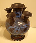 Flower Vase, Iran, Safavid period, 2nd half of 17th century, earthenware with overglaze luster painting - Cincinnati Art Museum - DSC04130.JPG