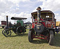 "Foden Steam Tractor Samantha in the foreground with a Wallace and Steevens Steam Tractor in the background ""Little Olga"", Gloucestershire Steam & Vintage Extravaganza 2013.jpg"
