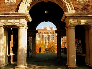 Quadrangle Dormitories (University of Pennsylvania) - The North Arcade passes under Morgan House.
