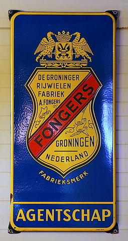 Bord van Fongers agentschap/ Bron Wikipedia: https://nl.wikipedia.org/wiki/Fongers