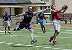 Football on a hot summer's day, 101 Days of Summer Flag Football 140803-M-TH981-002.jpg