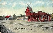 PostcardForestvilleCTRailroadStation1912