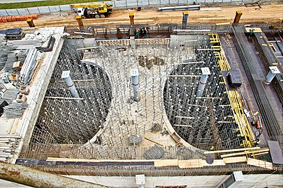 Formwork and shoring system for cast in place reinforced concreting. Монолитные работы на станции метро Мякинино.jpg