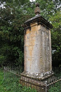 Four Shire Stone boundary marker in Gloucestershire, Oxfordshire and Warwickshire, UK