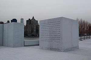 Franklin D. Roosevelt Four Freedoms Park - Image: Four Freedoms Park FDR quote