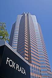 A high-rise building known as Fox Plaza