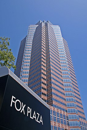 The Fox Plaza in Century City, headquarters for 20th Century Fox Foxplaza la.jpg