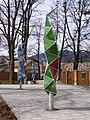 Frýdlant nad Ostravicí, Spořitelní, park, lampy 01.jpg