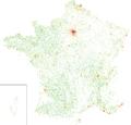 France - 2011 population density - 200 m × 200 m square grid (bis).png