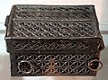 Francia (forse), cofanetto per libro d'ore, ferro e legno, xv secolo.jpg