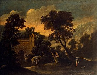 Francisco Collantes - Landscape with Ruins by Francisco Collantes, Hermitage Museum, 1634