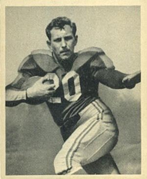 Frank Seno - Seno on a 1948 Bowman football card