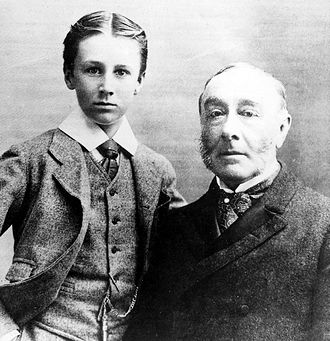 James Roosevelt I - James with his son Franklin in 1895