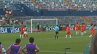 Free Kick on a FIFA U-17 2011 World Cup match of Mexico against Netherlands.jpg