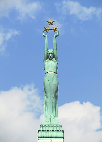 Liberty (goddess) - Freedom Monument, Riga, Latvia
