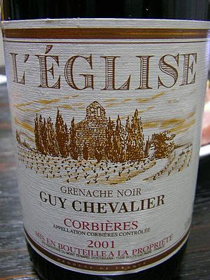 Varietal - French estate bottled wine from the Corbières AOC in the Languedoc-Roussillon that features the grape variety Grenache noir on the label. Unique for French wines