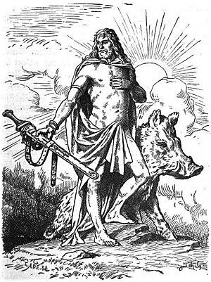 """Freyr"" (1901) by Johannes Gehrts. T..."