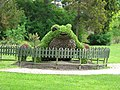 Frog-shaped flower scultpure in Krynica-Zdrój Poland.jpg