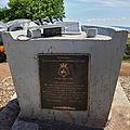 Front view of HMAS Canberra memorial, Police Memorial Park, Rove Honiara Solomon Islands.jpg