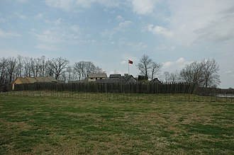 Fort Loudoun (Tennessee) - Fort Loudoun (20th-century reconstruction) from the outside
