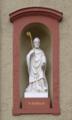 Fulda Kaemmerzell Kaemmerzeller Strasse Cath Church St Godehard Statue lf.png