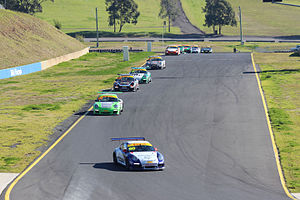 Porsche GT3 Cup Challenge Australia - The first lap of a GT3 Cup Challenge race at Sydney Motorsport Park in 2015.