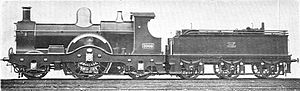 GWR Dean single 2-2-2 3009 Flying Dutchman (Howden, Boys' Book of Locomotives, 1907).jpg