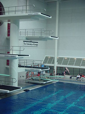 Gabrielsen Natatorium - Diving springboards and platforms