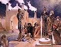 Gagarin. Bakou. Ateseh-Gah, Indiens adonnes au culte du feu.jpg