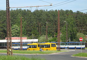 Rīgas Satiksme - Various trolleybuses and regional express buses