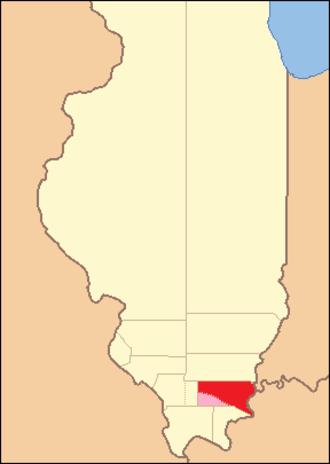 Gallatin County, Illinois - Image: Gallatin County Illinois 1816